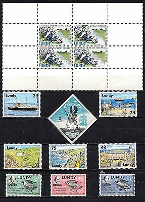 Lundy unmounted mint sets and others,as per scan(2219)