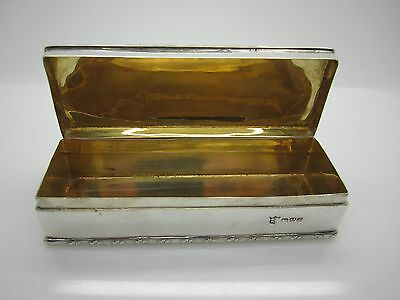 1906 Rare Chester Solid Silver Snuff Cig Box George Nathan & Ridley Hayes 87.7 G