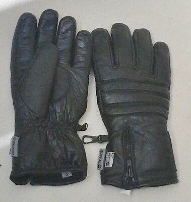 LEATHER MOTORCYCLE GLOVES, Size L, Black, BRAND NEW.