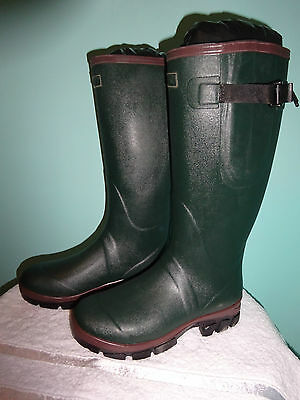 New Green Quality Wellington Boots Neoprene Lined Unisex Adult Size 4-12 Wellies