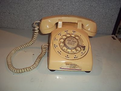 Rotary Desk Phone - Yellow - Stromberg Carlson - Works very well - See Pictures
