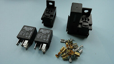 12v 15/25A 5 pin micro relay X 3 with holders and terminals