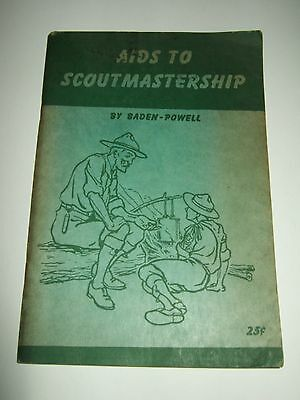 boy scouting,boy scouts of America Aids to Scoutmastership by Baden-Powell 1945