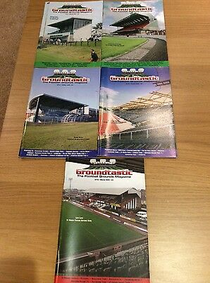 Groundtastic - 5 different issues - The Football Grounds Magazine