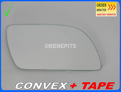 Wing Mirror Glass For VW POLO 2001-2004  CONVEX + TAPE Right Side #1030 125