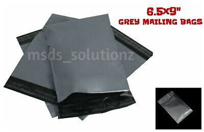 """STRONG GREY 6.5X9"""" MAILING BAGS 16.5x22.8CM PLASTIC PACKAGING POSTAL POLYTHENE"""