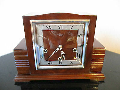 Fine Example Of Vintage Smiths Westminster Chiming Mantle Clock ( Working )