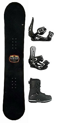 Liquid Storm Mens Snowboard 151 cm with Boots and Bindings Black - NEW
