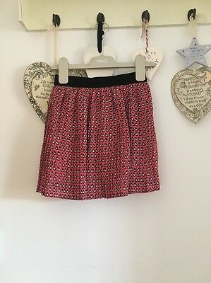 Girls Pretty Pink Pleated Skirt From Next Age 3 Years Elasticated Waist Band