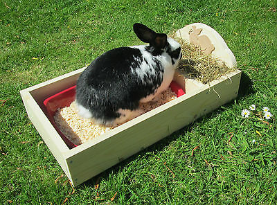 Rabbit Hay Feeder & Tray
