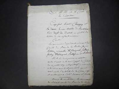 Antique French Paper Ephemera 24 Pages Old  Document 1800's