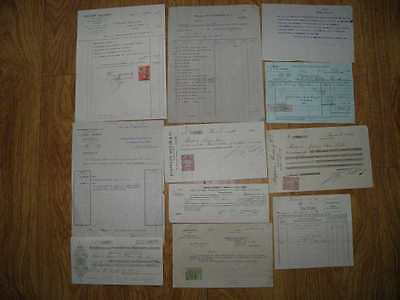 JOB LOT VINTAGE OLD FRENCH DOCUMENTS No 8