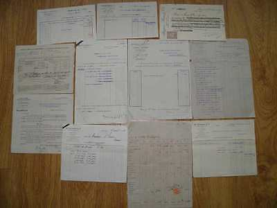 JOB LOT VINTAGE OLD FRENCH DOCUMENTS No 4