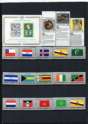 timbres des Nations-Unies. Neufs**
