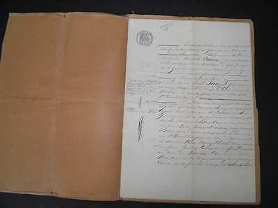 Antique French Paper Ephemera Old Legal Document 1800s