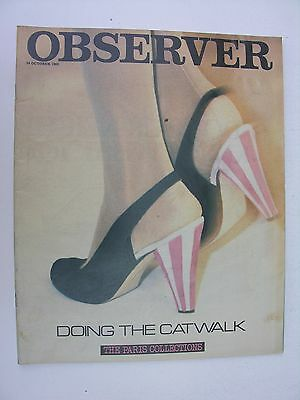 OBSERVER 24 Oct 1982 Philip Glass Bob Paisley Paris Fashion Beatles Top Thirty