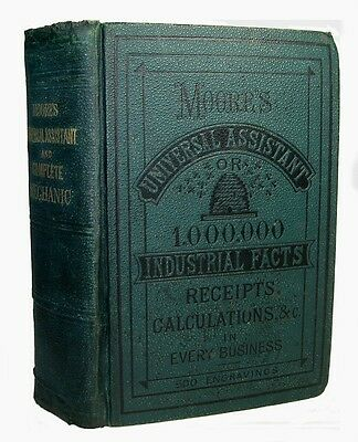 Antique COOKBOOK Confectionery FARM Home BEES Jewelry SOAP Metallurgy Mechanic