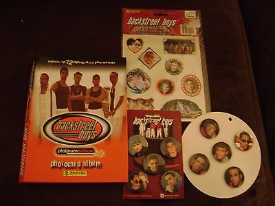 BACKSTREET BOYS LOT BUTTONS-STICKERS & PHOTO CARD COLLECTION! Winterland-1999