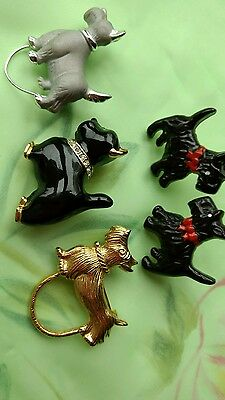 Lot of Vintage Fox Terrier jewerly