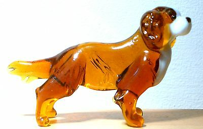 """Hand Blown """"murano"""" Glass Collectable Cavalier King Charles Spaniel  Figurine"""