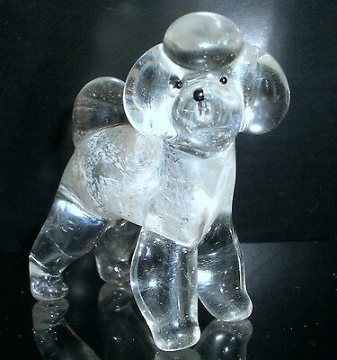 "Hand Blown ""murano"" Glass Collectable Bichon Frise Dog Figurine"
