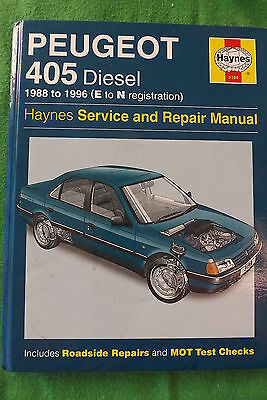 Haynes Peugeot 405 Diesel 1988 To 1996 Service & Repair Manual