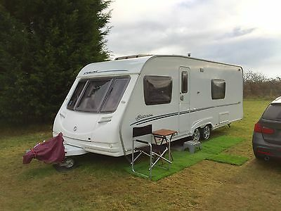 2007 Sterling Europa 620 Touring Caravan, Fixed Bed