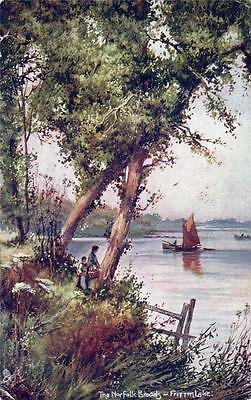 THE NORFOLK BROADS Fritton Lake old Tuck Postcard used 1904