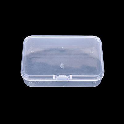2x Practical Plastic Clear Transparent Collection Container Case Storage Box