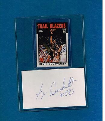 Kevin Duckworth Signed Index Card Autograph Auto Portland Trail Blazers Deceased