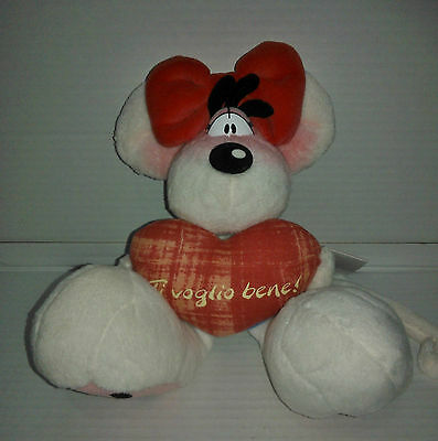 Diddl Peluche Diddlina Con Cuore San Valentino Diddlina Plush With Heart
