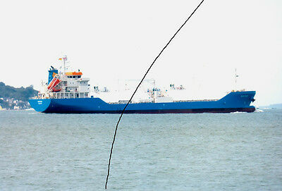 Ship/shipping Photo Photograph Of A Blue Gas Tanker Picture Of An Oil Vessel.