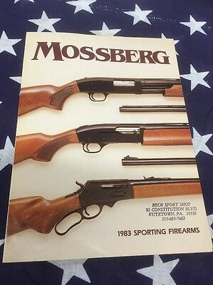 Vintage Hunting Shooting Advertising Mossberg Sporting Firearms Catalog 1983