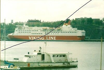 Ship/shipping Photo Of A Viking Line Photograph Picture Of A Ferry At Stockholm.