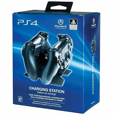 PS4 DualShock 4 Dual Controller Charging Station Dock Official Licensed PowerA