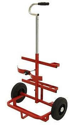 Oxy Acet welding/cutting Twin Cylinder Gas Bottle Trolley portable retractable