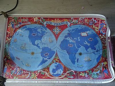 Affiche Air France Planisphere Creee Lucien Boucher 1952 Edit Musee Air France