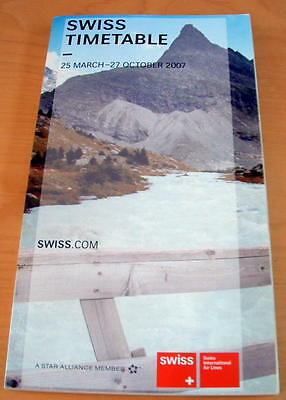 Swiss Airlines  Worldwide Timetable - Summer 2007 - New And Unused