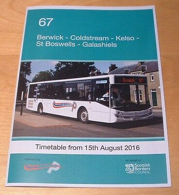 Perrymans Buses Scottish Borders Bus Timetable Route 67 - New And Unused