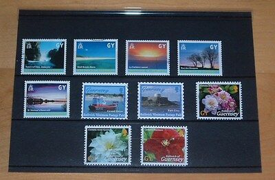 Guernsey Local Postage Stamps - Island Scenes Very Fine Used Set Of Ten Stamps