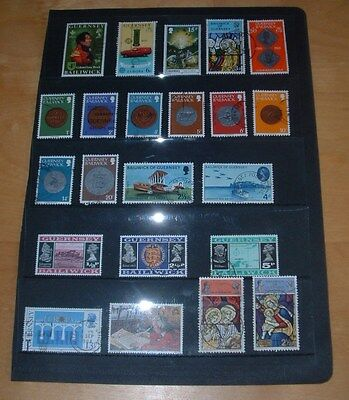 Selection Of 22 Guernsey Commemorative Stamps Mainly From The 1970's - Fine Used