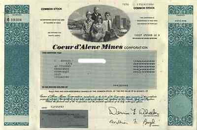Coeur d' Alene Mines 2003 Idaho Gold Silver Mine Chile Bolivien Historic Shares