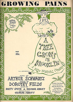 """Shirley Booth """"A TREE GROWS IN BROOKLYN"""" Dorothy Fields '51 Broadway Sheet Music"""