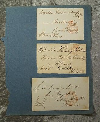 5 AUTOGRAPH ENVELOPES PRIMEMINISTER RUSSELL a. other politicains peers 1830#B721