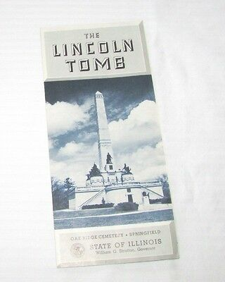 The Lincoln Tomb - Vintage Oak Ridge Cemetery, Springfield, Illinois Pamphlet