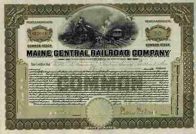 Maine Central Railroad 1924 Maine New Hampshire Vermont Less 100 Sh Common Stock
