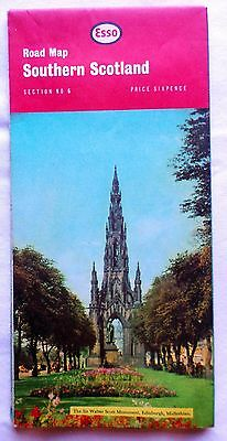 ESSO ROAD MAP. SECTION No 6. SOUTHERN SCOTLAND. 1965 SHEET MAP