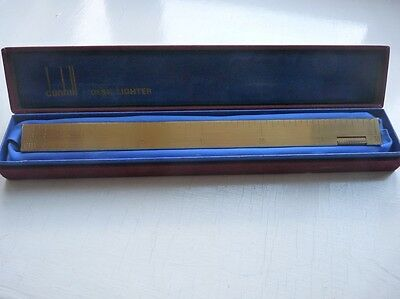 Dunhill Ruler Desk Lighter comes in original box - working - Stunning
