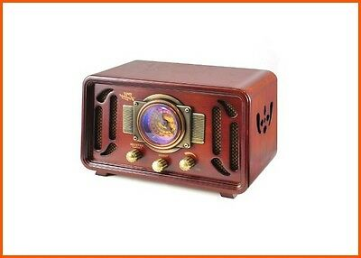 Vintage Style Radio Antique Retro Wooden Bluetooth USB Style System