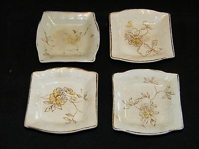 4 Antique Aesthetic Transfer Ware Ironstone Butter Pats Johnson Bros.england